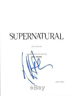 Jeffrey Dean Morgan Signed Autographed SUPERNATURAL Pilot Episode Script COA