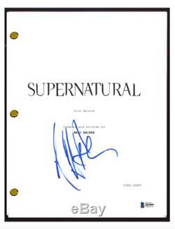 Jeffrey Dean Morgan Signed Autographed SUPERNATURAL Pilot Script Beckett COA