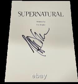 Jeffrey Dean Morgan Signed Supernatural Pilot Script Authentic Autograph Coa