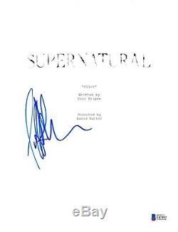 Jeffrey Dean Morgan Signed Supernatural Pilot Script Beckett Bas Autograph Auto