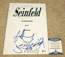 Jerry Seinfeld Jason Alexander Signed Full Pilot The Stake Out Tv Script Bas