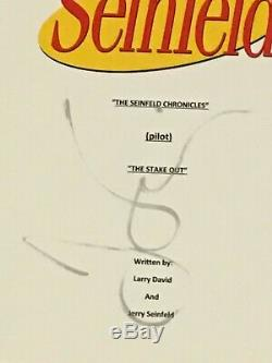 Jerry Seinfeld Signed Seinfeld The Stake Out Pilot Episode Script Jsa Coa