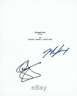Jesse Spencer & Taylor Kinney Signed Autograph CHICAGO FIRE Pilot Script COA VD