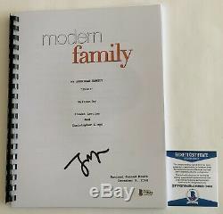 Jesse Tyler Ferguson Autographed Modern Family Pilot Script Signed Beckett COA