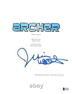 Jessica Walter Signed Archer Pilot Script Beckett Bas Autograph Auto