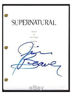 Jim Beaver Signed Autographed SUPERNATURAL Pilot Script Bobby Singer COA