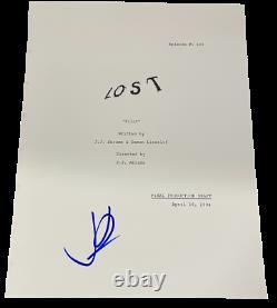 Jj Abrams Signed Lost Pilot Full Script Authentic Autograph Coa