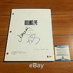 Jodie Comer & Fiona Shaw Signed Killing Eve Full Page Pilot Script Beckett Coa