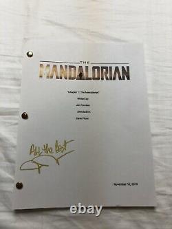 John Rosengrant The Mandalorian Signed Autographed Full Pilot Episode Script
