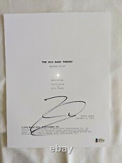 Johnny Galecki Signed Autographed THE BIG BANG THEORY FULL Pilot Script BAS AUTH