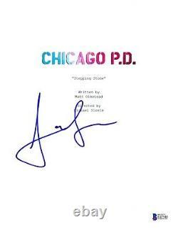 Jon Seda Signed Chicago Pd P. D. Pilot Script Cover Beckett Bas Autograph Auto