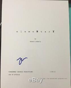 Jonny Lee Miller Signed Autograph Elementary Pilot Show Full Script Coa
