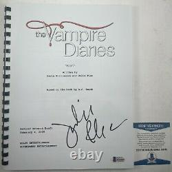 Julie Plec Autographed The Vampire Diaries Full Pilot Script Signed Beckett COA