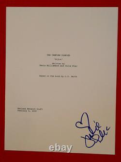 Julie Plec Signed Autographed The Vampire Diaries Pilot Episode Script Creator
