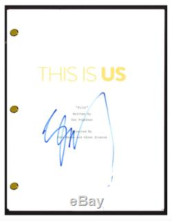 Justin Hartley Signed Autograph THIS IS US Pilot Episode Script Screenplay COA