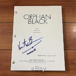 KRISTIAN BRUUN SIGNED ORPHAN BLACK FULL PILOT SCRIPT with CHARACTER NAME & PROOF