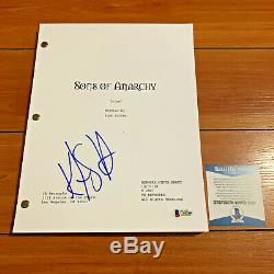 KURT SUTTER SIGNED SONS OF ANARCHY FULL PAGE PILOT SCRIPT with BECKETT BAS COA