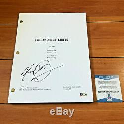 KYLE CHANDLER SIGNED FRIDAY NIGHT LIGHTS FULL PAGE PILOT SCRIPT with BECKETT COA