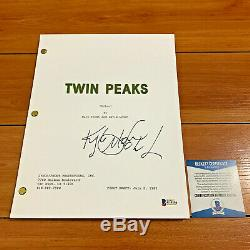KYLE MACLACHLAN SIGNED TWIN PEAKS FULL 60 PAGE PILOT SCRIPT with BECKETT BAS COA