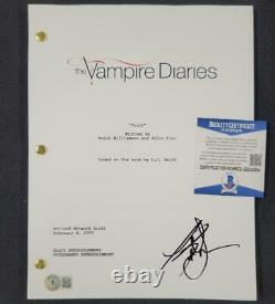 Kat Graham signed Vampire Diaries Pilot TV Script Beckett BAS COA