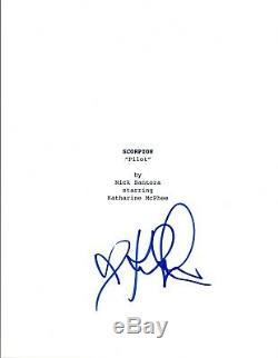 Katharine McPhee Signed Autographed SCORPION Pilot Episode Script COA VD