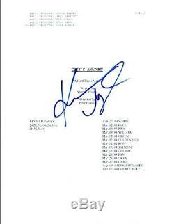 Katherine Heigl Signed Autographed GREY'S ANATOMY Pilot Episode Script COA AB