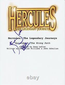 Kevin Sorbo Signed Hercules The Legendary Journeys Pilot Script Autograph Coa