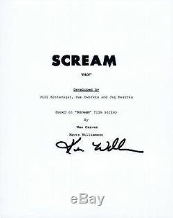 Kevin Williamson Signed Autographed SCREAM Pilot Episode Script COA VD