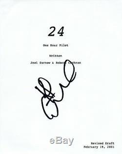 Kiefer Sutherland Signed Autographed 24 Full Pilot Episode Script COA VD
