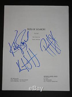 Kurt Sutter/ Katey Sagal + Hurst Sons Of Anarchy Signed Autographed Pilot Script