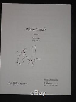 Kurt Sutter Sons Of Anarchy Signed Autographed Pilot Script Charlie Hunnam