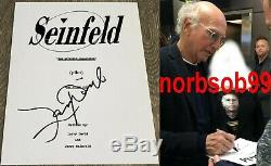 LARRY DAVID SIGNED AUTOGRAPH SEINFELD 45 PAGE PILOT EPISODE SCRIPT withEXACT PROOF