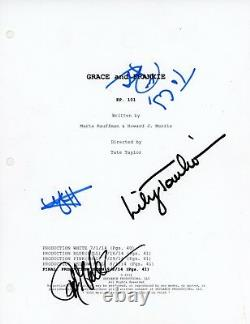 LILY TOMLIN+3 Authentic Hand-Signed GRACE AND FRANKIE Pilot Full Script