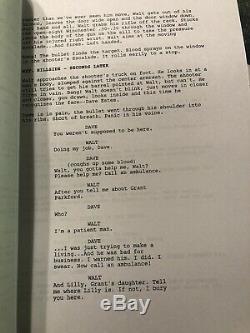 LONGMIRE Script for TV Series Pilot Autographed by Robert Taylor (Authenticated)