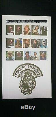 LOT of 3 SONS OF ANARCHY x16 CAST SIGNED PIC x 2+ PILOT SCRIPT SIGNED with COA's