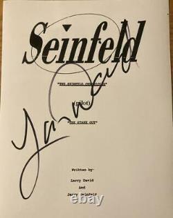 Larry David Signed Autograph Seinfeld Writer Full Rare Show Pilot Script Coa