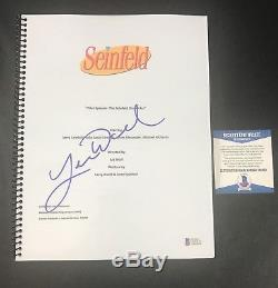 Larry David Signed Seinfeld Full Pilot Script Authentic Autograph Beckett Coa