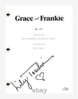 Lily Tomlin Signed Autographed Grace and Frankie Pilot Episode Script ACOA COA