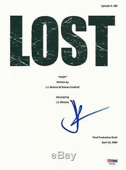 Lost' Jj Abrams Signed Pilot Full Script Screenplay Authentic Auto Psa/dna Psa