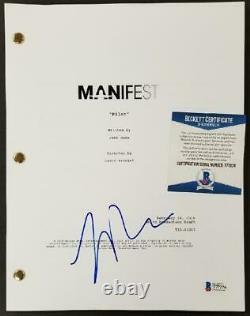 Luna Blaise signed Manifest TV Script Pilot Episode Autograph Beckett BAS COA