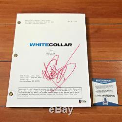 MATT BOMER SIGNED WHITE COLLAR FULL 80 PAGE PILOT SCRIPT with PROOF BECKET BAS COA
