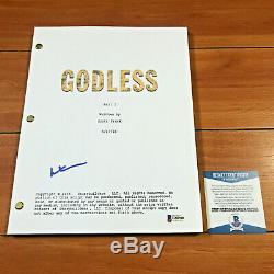 MERRITT WEVER SIGNED GODLESS FULL 59 PAGE PILOT EP SCRIPT with BECKETT BAS COA