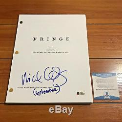 MICHAEL CERVERIS SIGNED FRINGE FULL 114 PAGE PILOT SCRIPT with BECKETT BAS COA