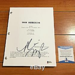 MICHELLE MONAGHAN SIGNED TRUE DETECTIVE PILOT SCRIPT with PROOF & BECKETT BAS COA