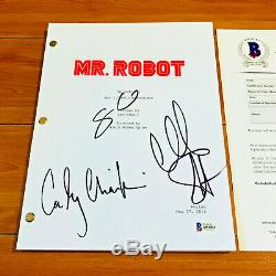 MR. ROBOT SIGNED PILOT SCRIPT BY x3 CAST CHRISTIAN SLATER with BECKET COA