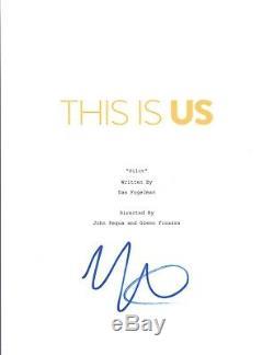 Mandy Moore Signed Autograph THIS IS US Pilot Episode Script COA