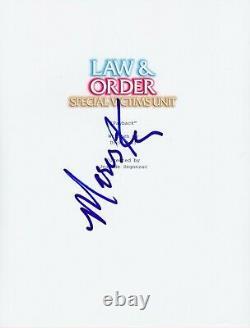 Mariska Hargitay Signed Law And Order Svu Pilot Episode Script Autograph Auto