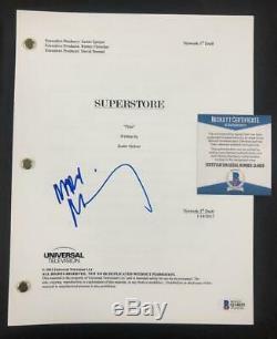 Mark McKinney aka Glenn signed Superstore full TV Pilot Script Beckett BAS COA