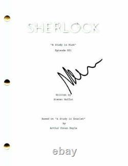 Martin Freeman Signed Autograph Sherlock Pilot Script Benedict Cumberbatch