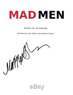 Matthew Weiner Signed Autographed MAD MEN Pilot Script Show Creator COA